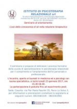Caserta, 23 Gennaio: Seminario di orientamento gratuito sulla Psicoterapia Relazionale