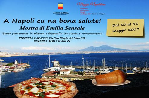 'A Napoli cu na bona salute!', fino al 31 maggio la mostra di Emilia Sensale con le bontà partenopee come protagoniste