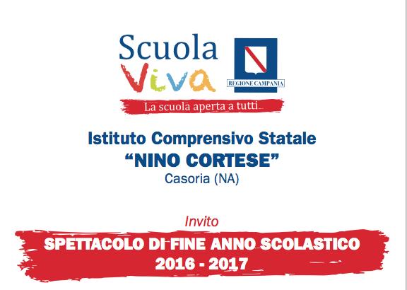 """Venerdì al """"Nino Cortese"""" la manifestazione conclusiva del progetto """"SCUOLA VIVA"""""""