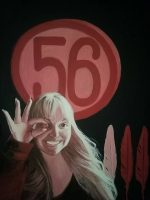 Numeri, volti e pittura: l'artista Barbara Karwowska presenta i suoi 'Tombolati' e inizia con Emilia Sensale