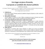 Una legge sul gioco d'azzardo: la proposta ai candidati alle elezioni politiche