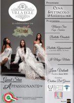 Villa Egle Luxury & Hosteria La Tana del Coniglio presentano cena-spettacolo di beneficenza