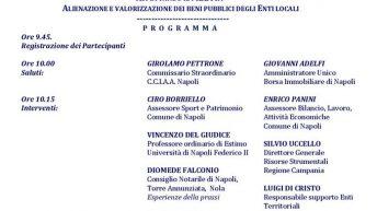 Dismissione e Valorizzazione degli immobili degli enti locali, seminario della Borsa Immobiliare di Napoli