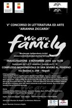 A Napoli dal 3 al 17 novembre ci sarà la mostra collettiva d'arte 'We are family'