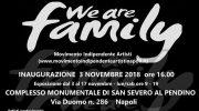 A Napoli dal 3 al 17 novembre ci sarà la mostra collettiva d'arte 'We are family'