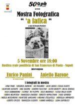 Dal 5 al 30 novembre ci sarà a Napoli la mostra fotografica ''A fatica' a cura di Rosario Morisieri