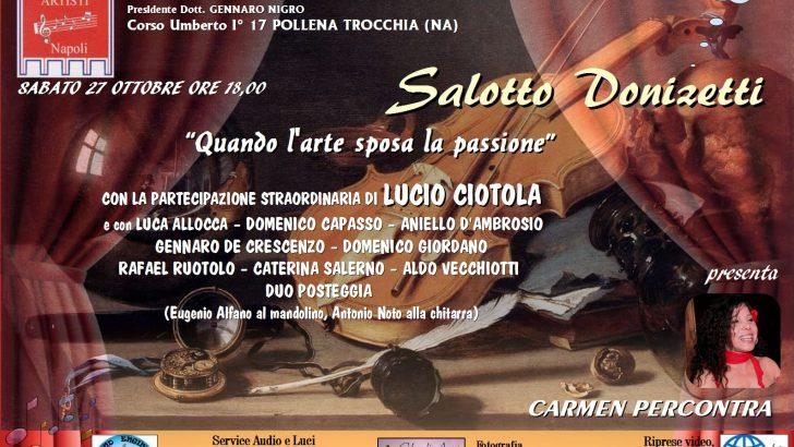 """Salotto Donizetti: """"Quando l'arte sposa la passione"""""""
