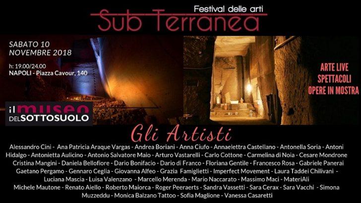 SubTerranea, rassegna di arti visive e performative al Museo del Sottosuolo di Napoli dal 10/11