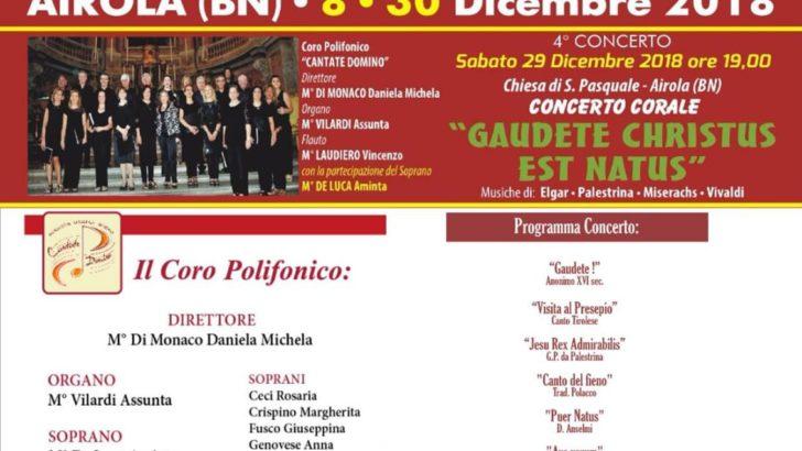 """Grande successo ad Airola per il coro polifonico """"Cantate Domino"""""""