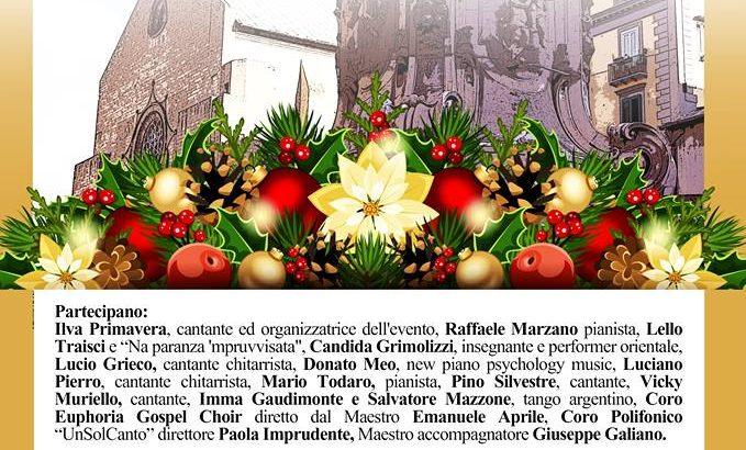 Natale d'arte con Ilva Primavera nel cortile della basilica di Santa Chiara a Napoli