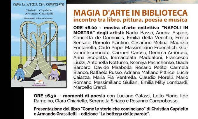Il Salotto Primavera Arte presenta al Vomero l'evento 'Magia d'arte in biblioteca'