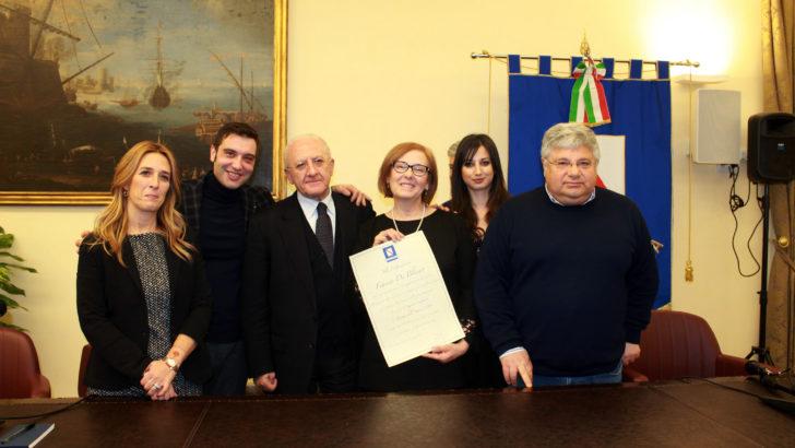 Franca Di Blasio, donna dell'anno 2018 anche per la Regione Campania