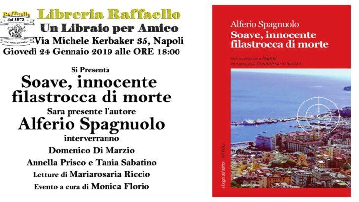 Sarà presentato al Vomero 'Soave, innocente filastrocca di morte', romanzo giallo di Alferio Spagnuolo