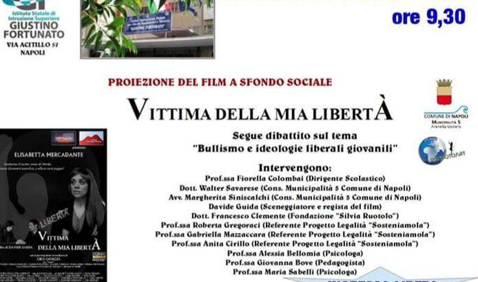 """Tema bullismo alla Giustino Fortunato con il film """" Vittima della mia libertà"""""""