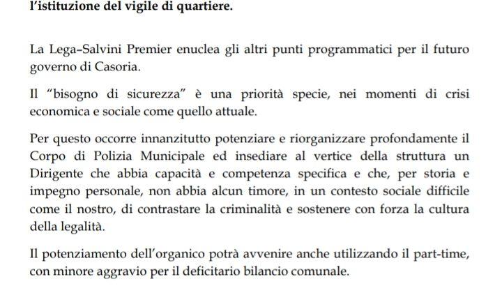 Proposte per il buon governo di Casoria.
