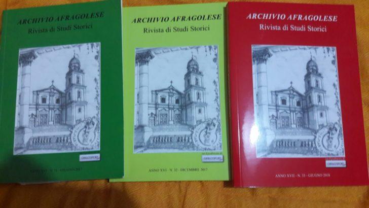 "PRESENTATI, AL TEATRO GELSOMINO DI AFRAGOLA, I NUMERI 31, 32 e 33 di ""ARCHIVIO AFRAGOLESE"