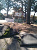 Rimossa l'erba sintetica in Piazza Dante