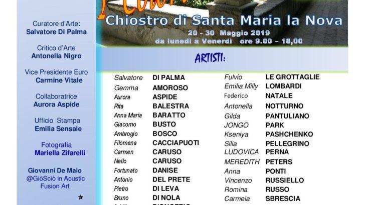 Al Chiostro di Santa Maria La Nova a Napoli si inaugura la mostra 'I COLORI DELL'ANIMA'