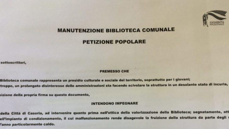 Petizione alla Biblioteca comunale: richiesto l'intervento del Sindaco Bene