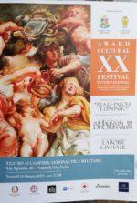 """Il 14 giugno prossimo xx Anniversario per l'Award Festival International """"TRA LE PAROLE E L'INFINITO"""""""