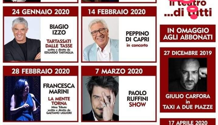 Teatro Gelsomino: stagione 2019/2020