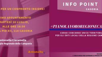 Info point Casoria: piano lavoro Regione Campania