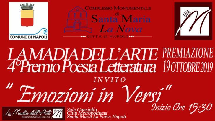 Cerimonia di premiazione IV edizione del premio letterario 'Emozioni in versi'