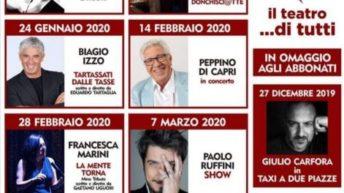 Stagione teatrale 2019/2020 Teatro Gelsomino