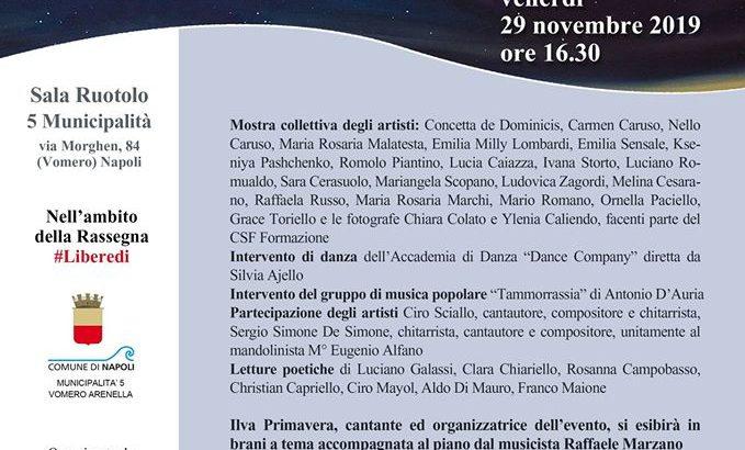 'Libere di essere donne', al Vomero l'evento dell' Associazione Primavera Arte