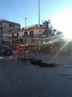FOTO – Il Tgr Campania racconta della voragine di Via Federici
