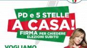 """""""PD E 5 STELLE A CASA"""", ANCHE A CASORIA LA RACCOLTA DI FIRME PER CHIEDERE ELEZIONI SUBITO!"""
