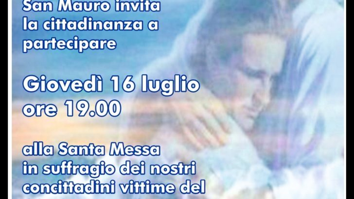 Domani messa alla chiesa di San Mauro per le vittime del Coronavirus